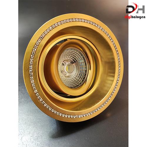 هالوژن آلومینیومی اس اچ لایتینگ مدل نگین دار طلایی کد 602 (SH.LIGHTING)