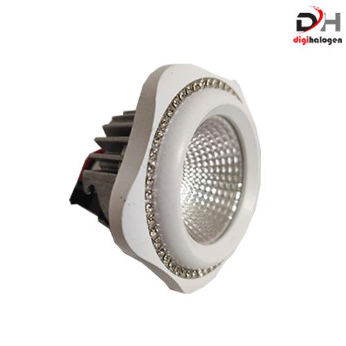 هالوژن پارکتی نگین دار اس اچ لایتینگ مدل ns101 سفید (SH.LIGHTING)