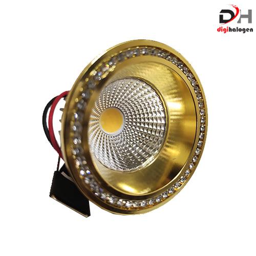 هالوژن پارکتی نگین دار اس اچ لایتینگ مدل ns102 طلایی (SH.LIGHTING)