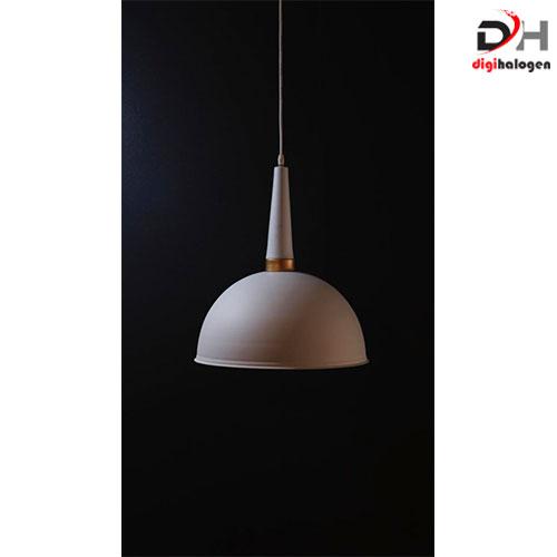 چراغ آویز سقفی دیبانور کد 3010 مدل کاسه ای بزرگ سفید