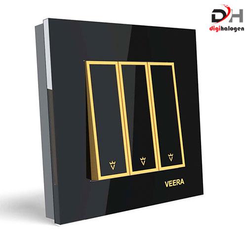 کلید سه پل امگا مشکی ویرا (VEERA)