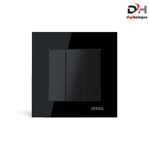 کلید سه پل مشکی کریستال ویرا (VEERA)