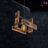 چراغ آویز چوبی کد 101-A1