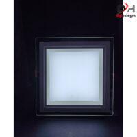 پنل ال ای دی توکار دورشیشه ای 18 وات مدل مربع لیان نور